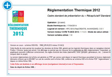 ArchiWIZARD logiciel thermique: Attestations RT2012