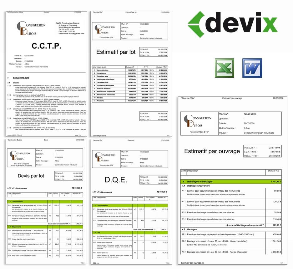 Exemple devis constructeur maison for Devis maison individuelle