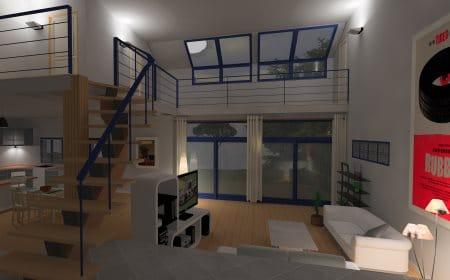 logiciel d'architecture : aménagement intérieur, rendu photo-réaliste