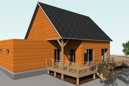 Envisioneer construction bois ossature bois et architecture - Maison secondaire cotiere avec vue katch ...