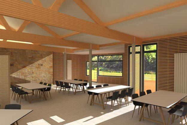 Projet d'extension d'une maison de repos - Agrandissement du réfectoire