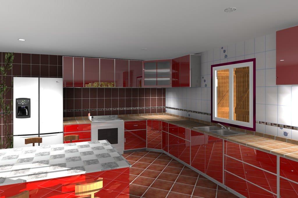 Am nagement int rieur galerie rendu 3d envisioneer for Simulation implantation cuisine