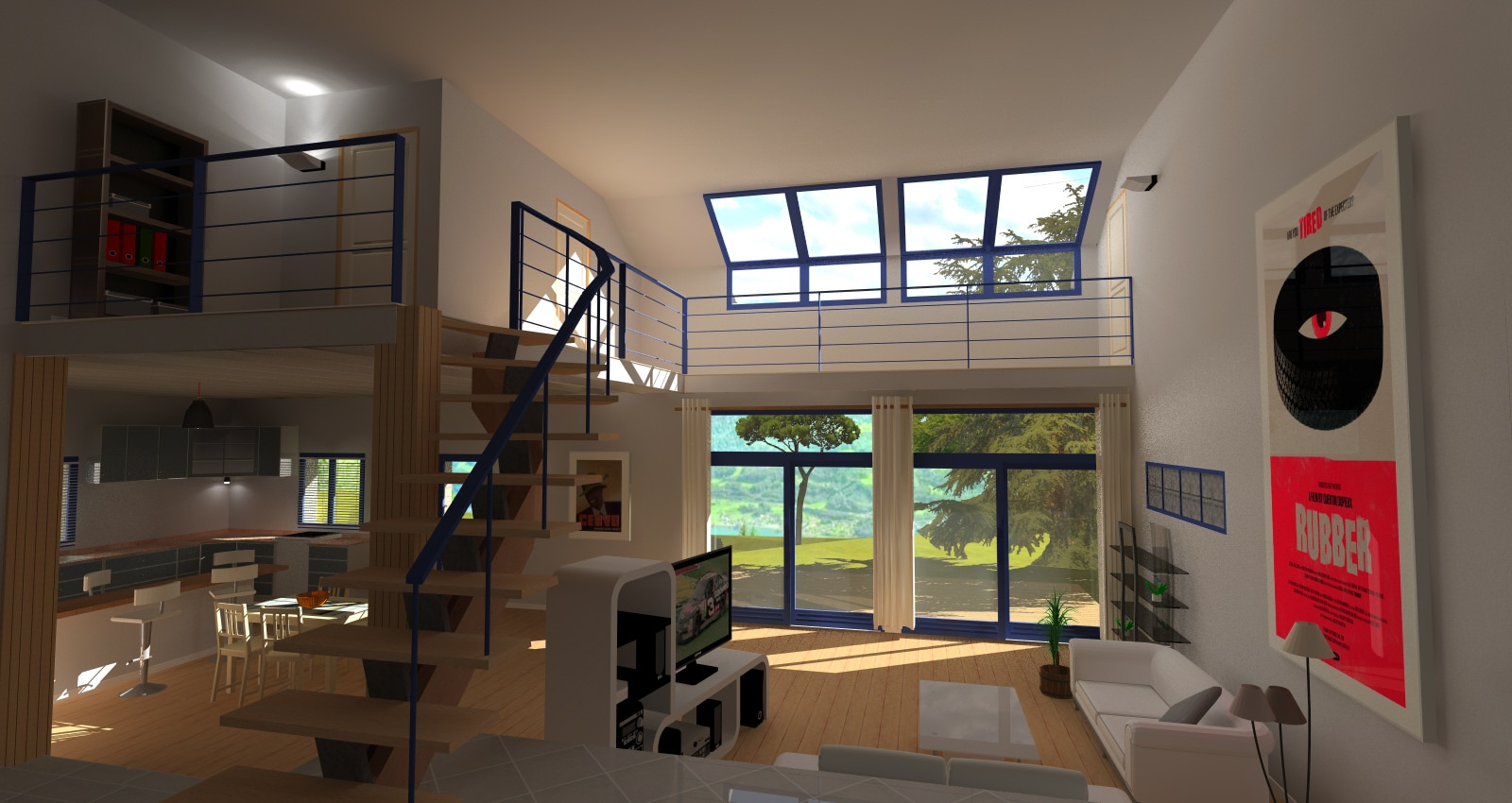 Am nagement int rieur galerie rendu 3d envisioneer for Amenagement interieur 3d
