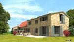 Rénovation et aménagement extérieur d'un corps de logement en Normandie