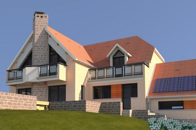 Maison individuelle de type traditionnelle