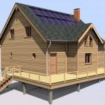 Modèle de maison à ossature bois