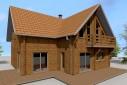 Maison en bois massif à madriers empilés