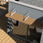 Terrasse en ossature bois contemporaine en Bretagne