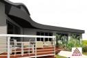 Maison ossature bois avec piscine couverte et sa terrasse