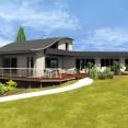 Maison en ossature bois avec piscine couverte
