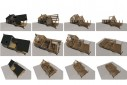 Visualisation du montage de l'ossature bois dans le temps