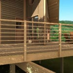 Projet de maison à ossature bois sur un système de pilotis