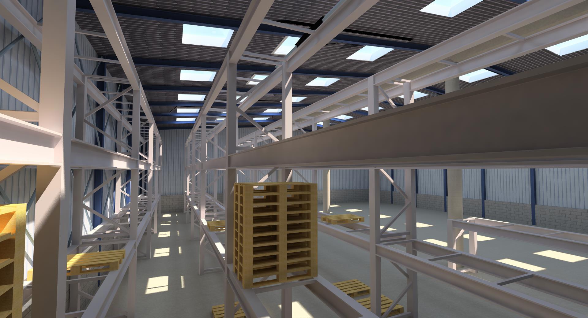 Bâtiment industriel et équipements
