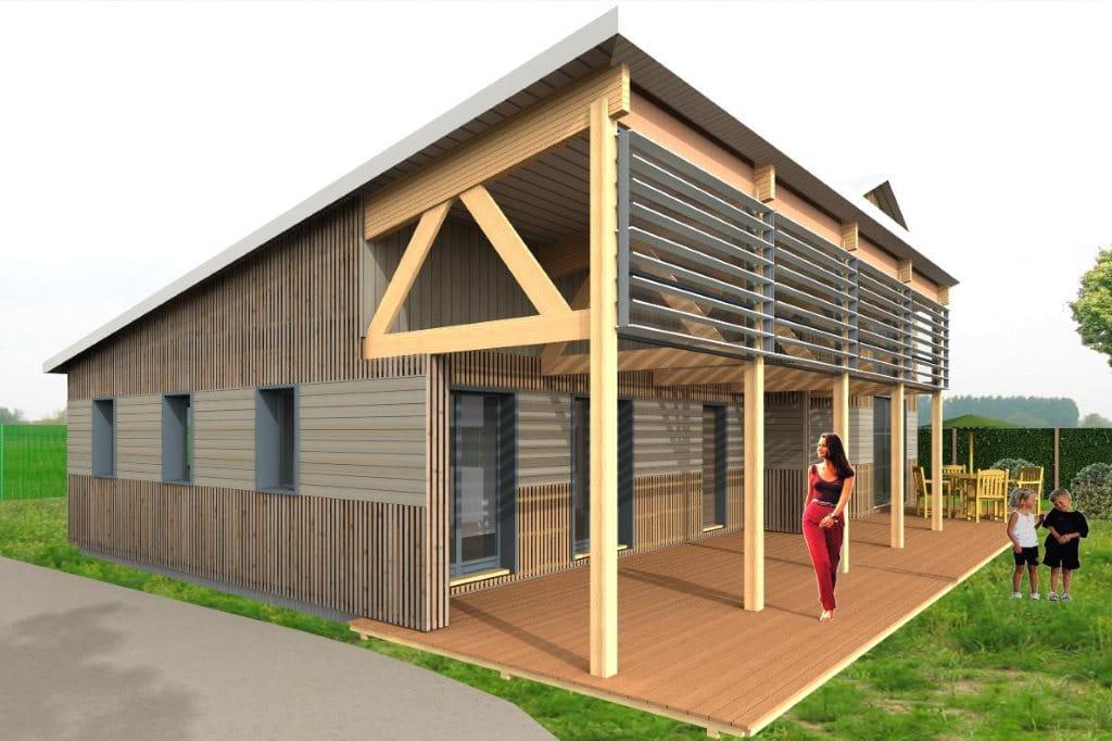 Maison bois  Galerie rendu 3D Envisioneer