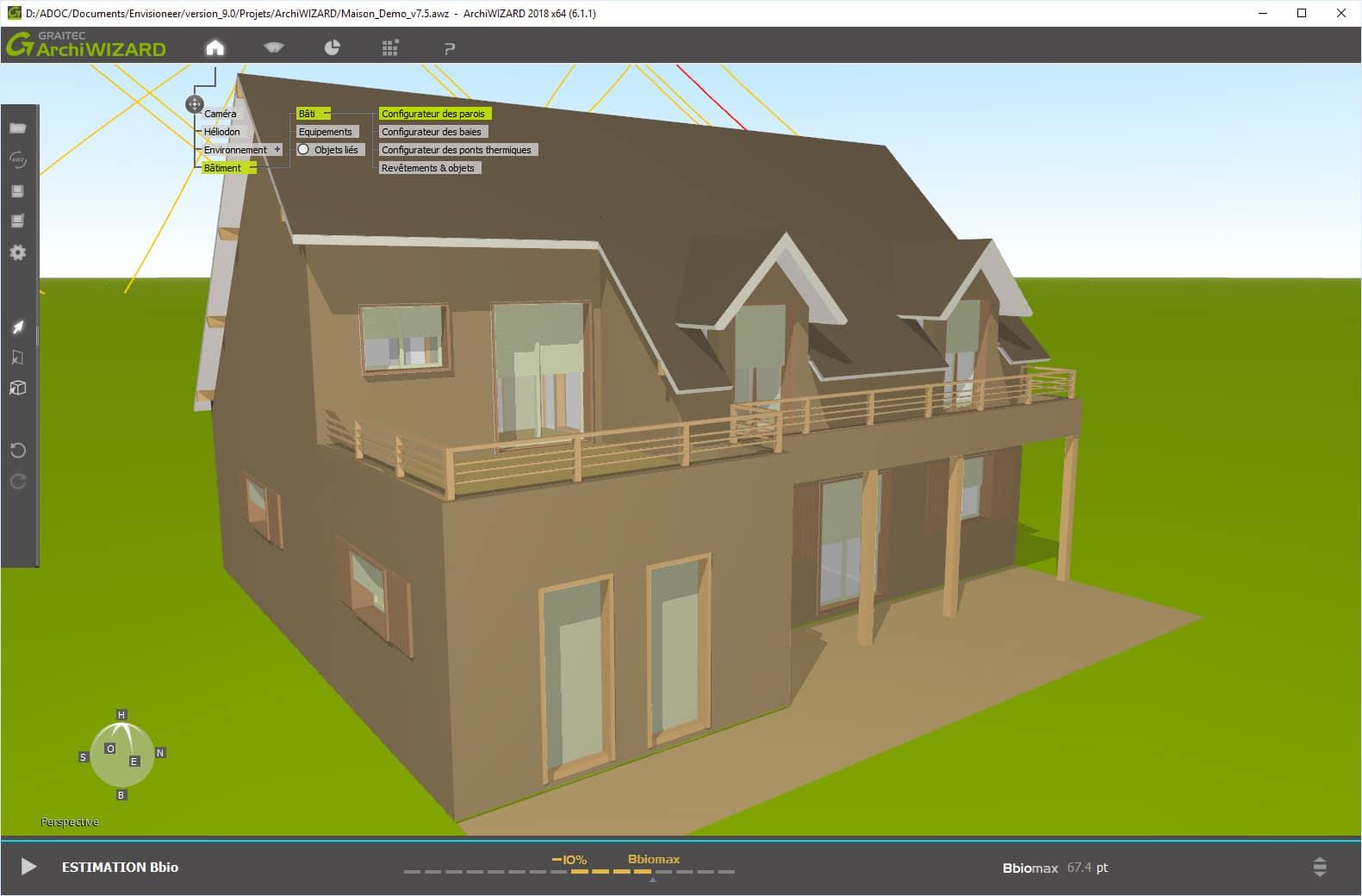 evaluation thermique maison figure double couche de matelas isolant dans un mur ossature la. Black Bedroom Furniture Sets. Home Design Ideas